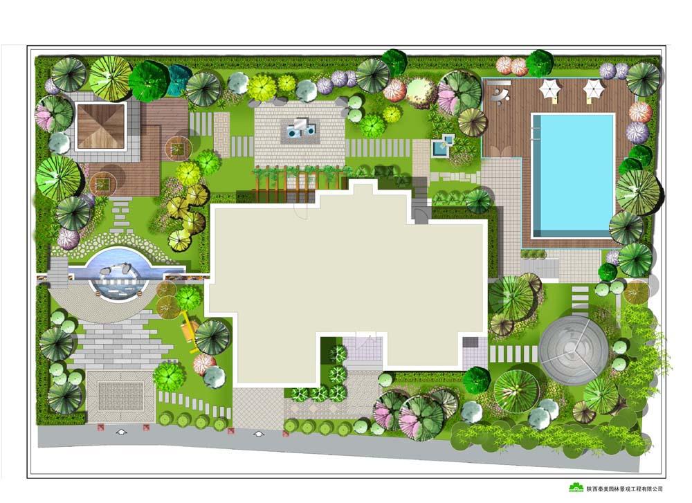 别墅环境绿化