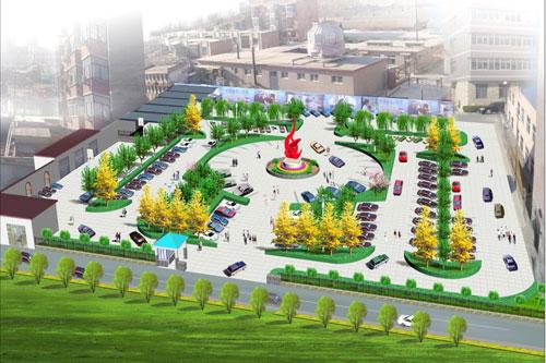 单位绿化停车场平面图