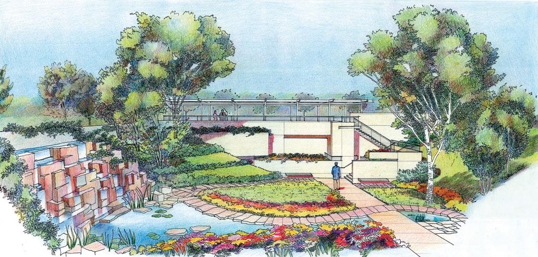 小区绿化景观设计手绘图