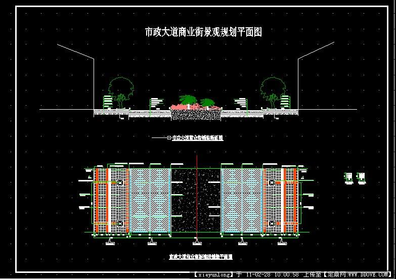 业街绿化设计图CAD平面图图片