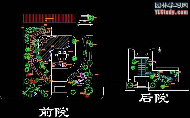 小院绿化设计图