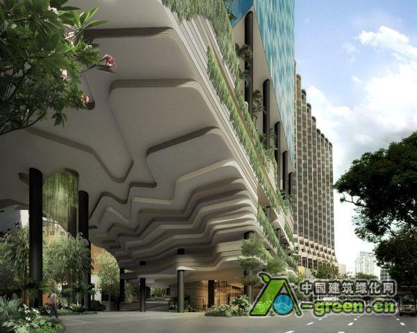 垂直公园酒店让新加坡在绿色设计上触摸到新的高度 中国建筑绿化网